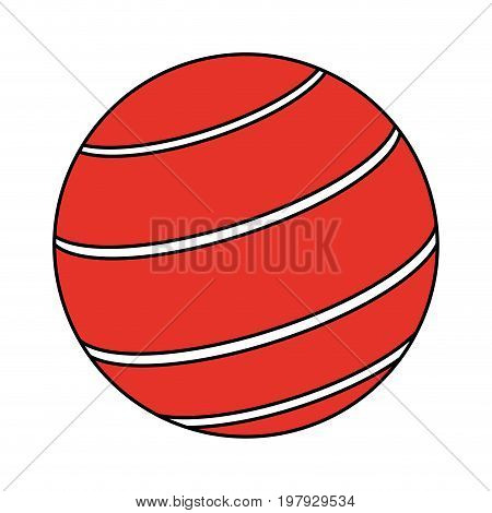 rubber ball icon image vector illustration design one color