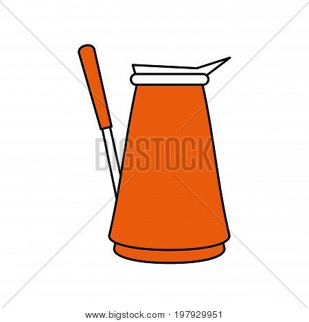 turkish pot coffee related icon image vector illustration design one color