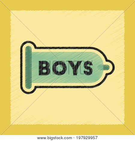 flat shading style icon gays condom contraceptive
