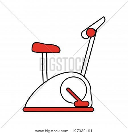stationary spinning bike exercise equipment icon image vector illustration design one color