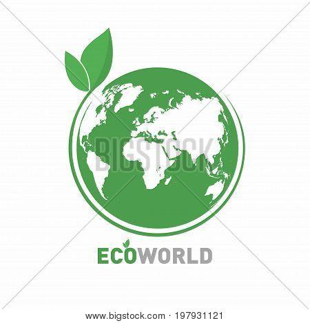 Ecology Logo. Eco World Symbol, Icon. Eco Friendly Concept For Company Logo