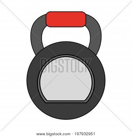 kettlebell exercise equipment icon image vector illustration design