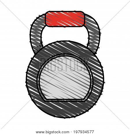 kettlebell exercise equipment icon image vector illustration design sketch style