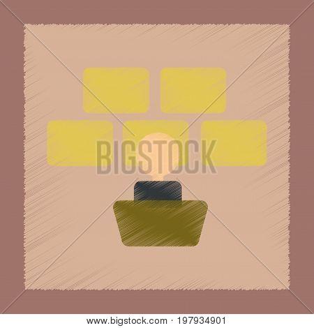 flat shading style icon poker screen guard