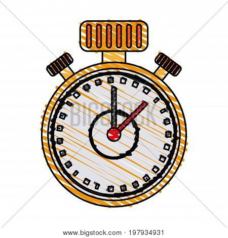 analog chronometer icon image vector illustration design sketch style