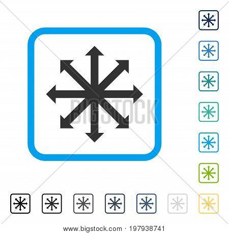 Expand Arrows icon inside rounded square frame. Vector illustration style is a flat iconic symbol in some color versions.