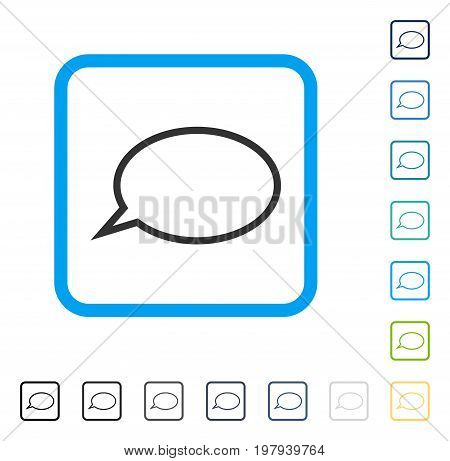 Hint Cloud icon inside rounded square frame. Vector illustration style is a flat iconic symbol in some color versions.