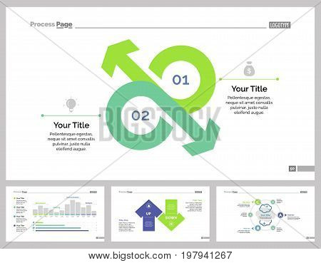 Infographic design set can be used for workflow layout, diagram, annual report, presentation, web design. Business and economics concept with process charts.