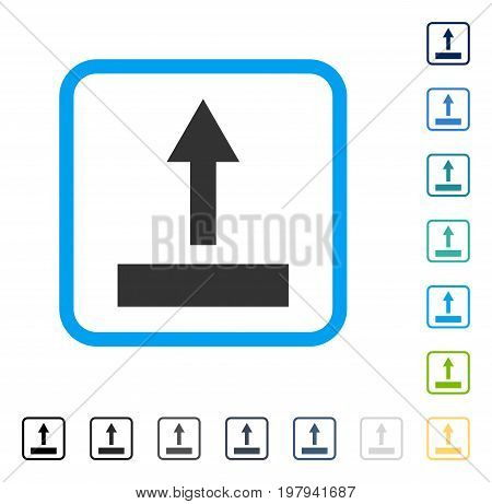 Pull Up icon inside rounded square frame. Vector illustration style is a flat iconic symbol in some color versions.
