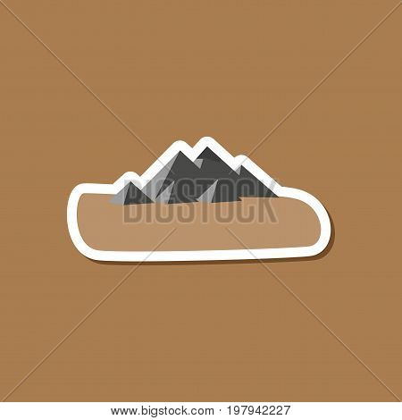 paper sticker on stylish background Egyptian pyramids
