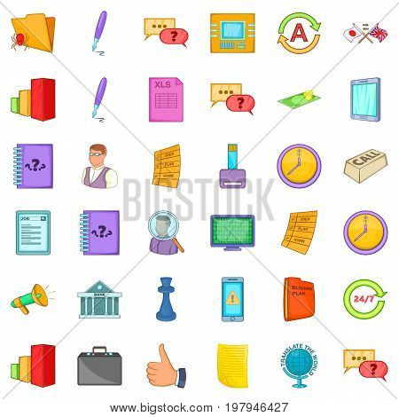 Business meeting icons set. Cartoon style of 36 business meeting vector icons for web isolated on white background