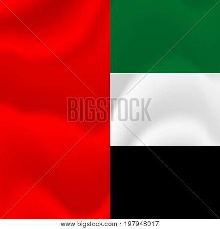 United Arab Emirates flag background. UAE. Vector illustration.