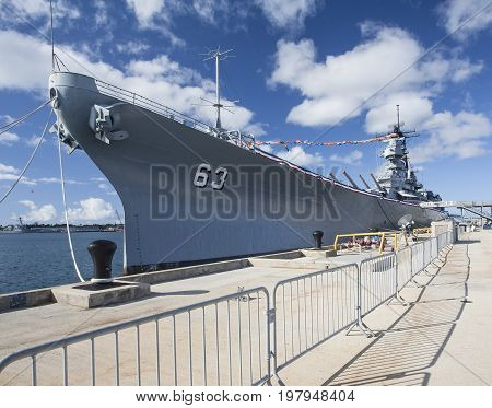 USS Missouri Battleship BB63 Pearl Harbor Hawaii