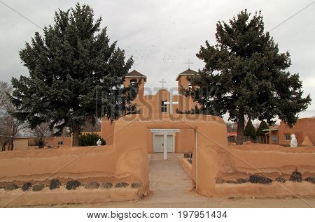 San Francisco de Asis Catholic Church in historic Ranchos de Taos, Northern New Mexico