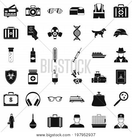 Incident icons set. Simple style of 36 incident vector icons for web isolated on white background