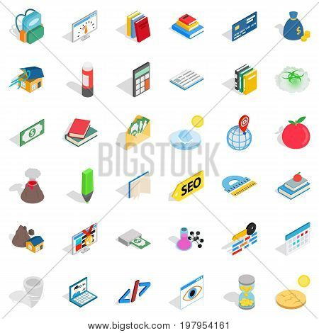Chemistry lab icons set. Isometric style of 36 chemistry lab vector icons for web isolated on white background