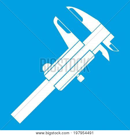 Calipers icon white isolated on blue background vector illustration