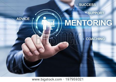 Mentoring Business Motivation Coaching Success Career concept.