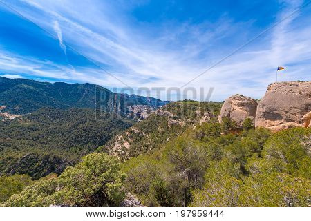 Mountains In The Province Of Catalunya, Spain. Copy Space For Text.