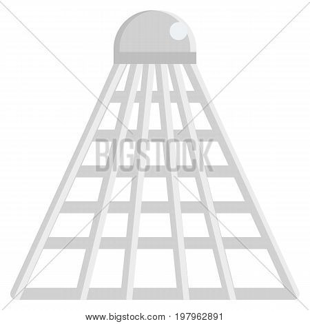 Badminton shuttlecock icon, vector illustration flat style design isolated on white. Colorful graphics