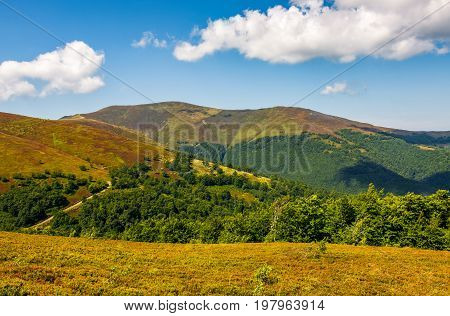 Mountain Hillsides In Late Summer