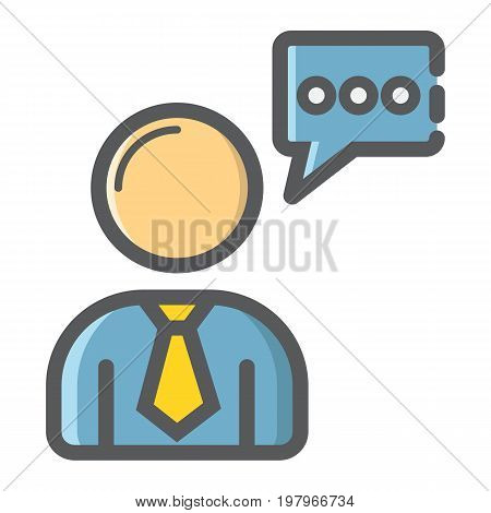 Seo Consulting filled outline icon, seo and development, support sign vector graphics, a colorful line pattern on a white background, eps 10.