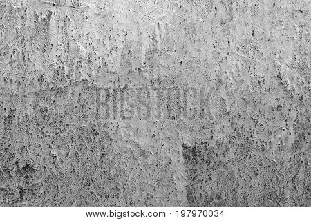 Old gray cracked concrete wall textured background