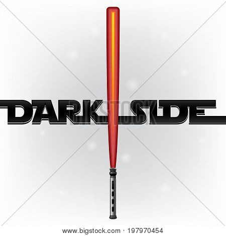 Light Sword. Flat Lightsaber. Light Futuristic Sword