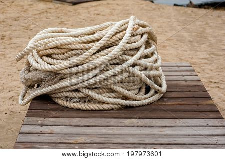 Coil Of Ropes Close Up 02