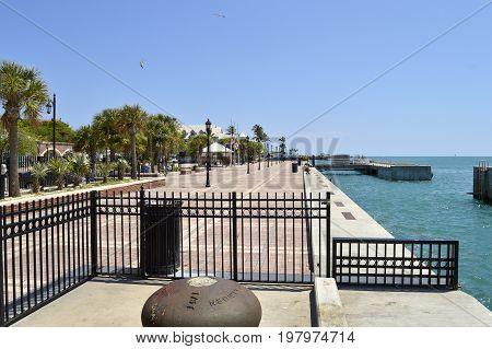 Key West Florida Keys Florida USA - May 15 2017 : Key West Marina the southernmost point in mainland USA Key West Florida