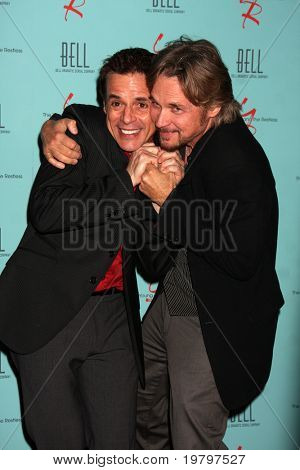 LOS ANGELES - MAR 18:  Christian LeBlanc, Stephen Nichols arriving at The Young & the Restless 38th Anniversary Party Hosted by The Bell Family at Avalon Hotel on March 18, 2011 in Beverly HIlls, CA