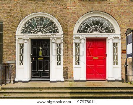 Door In The Georgian House Of Dublin
