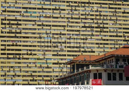 Old Apartments In Chinatown, Singapore
