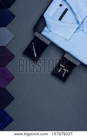 Shirt, Neckties And Cufflinks