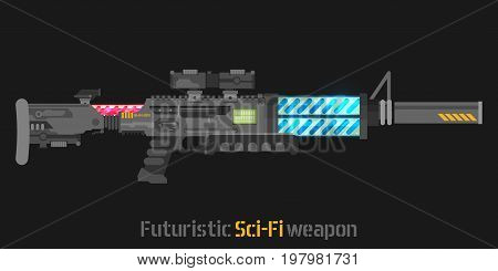 Futuristic Sci-Fi weapon. Vector illustration for design