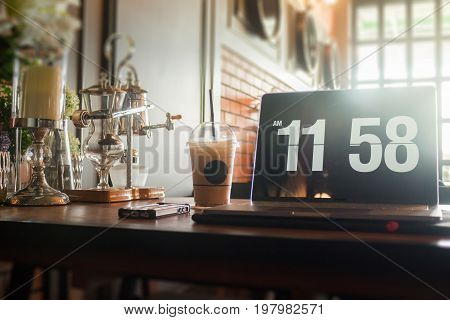 Creative home office of freelance stock photo