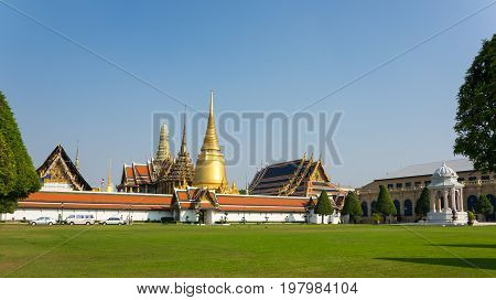 Wat Phra Kaew is one of the most popular tourists destination in Bangkok Thailand