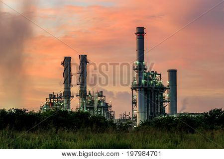 Natural gas turbine electric power plant support factory