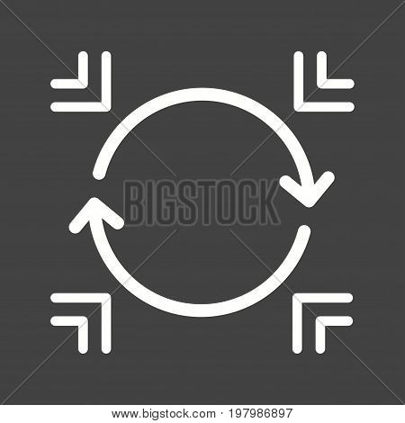Sync, refresh, update icon vector image. Can also be used for Data Analytics. Suitable for use on web apps, mobile apps and print media.