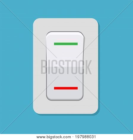 Toggle switch. Electric control concept. Vector illustration in flat design