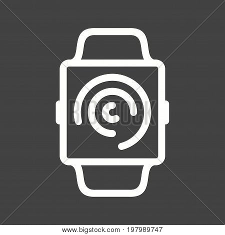 Watch, activity, app icon vector image. Can also be used for Smart Watch. Suitable for mobile apps, web apps and print media.