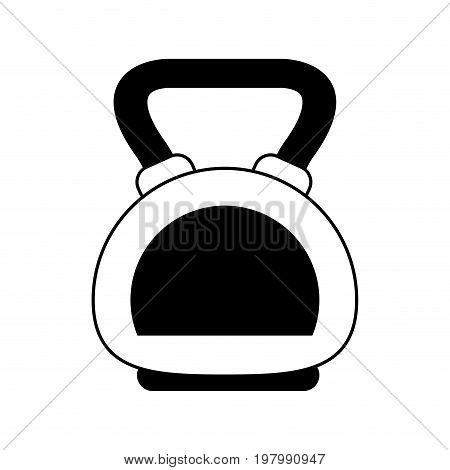 kettlebell weight lifting icon image vector illustration design  black and white