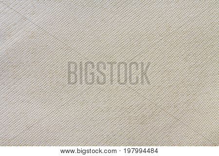 Texture Of White Fabric Made Of Polyester