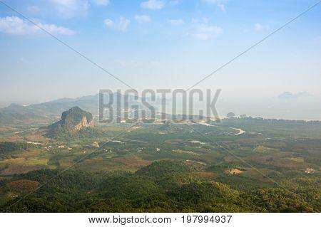 Tab Kak Hang Nak Hill national park in Krabi province Thailand