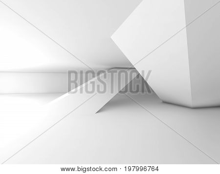 Abstract Empty Contemporary Interior, 3D Render