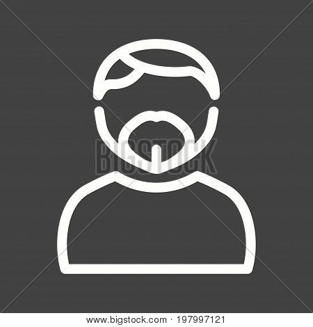 Man, goatee, french icon vector image. Can also be used for Avatars. Suitable for mobile apps, web apps and print media.