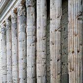 Corinthian Granite Columns in Pantheon in Rome Italy poster