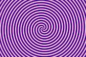 Optical Illusion Hypno Purple Aparent Circular Motion poster
