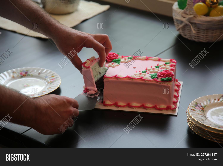 Awe Inspiring Birthday Cake Pink Image Photo Free Trial Bigstock Funny Birthday Cards Online Elaedamsfinfo