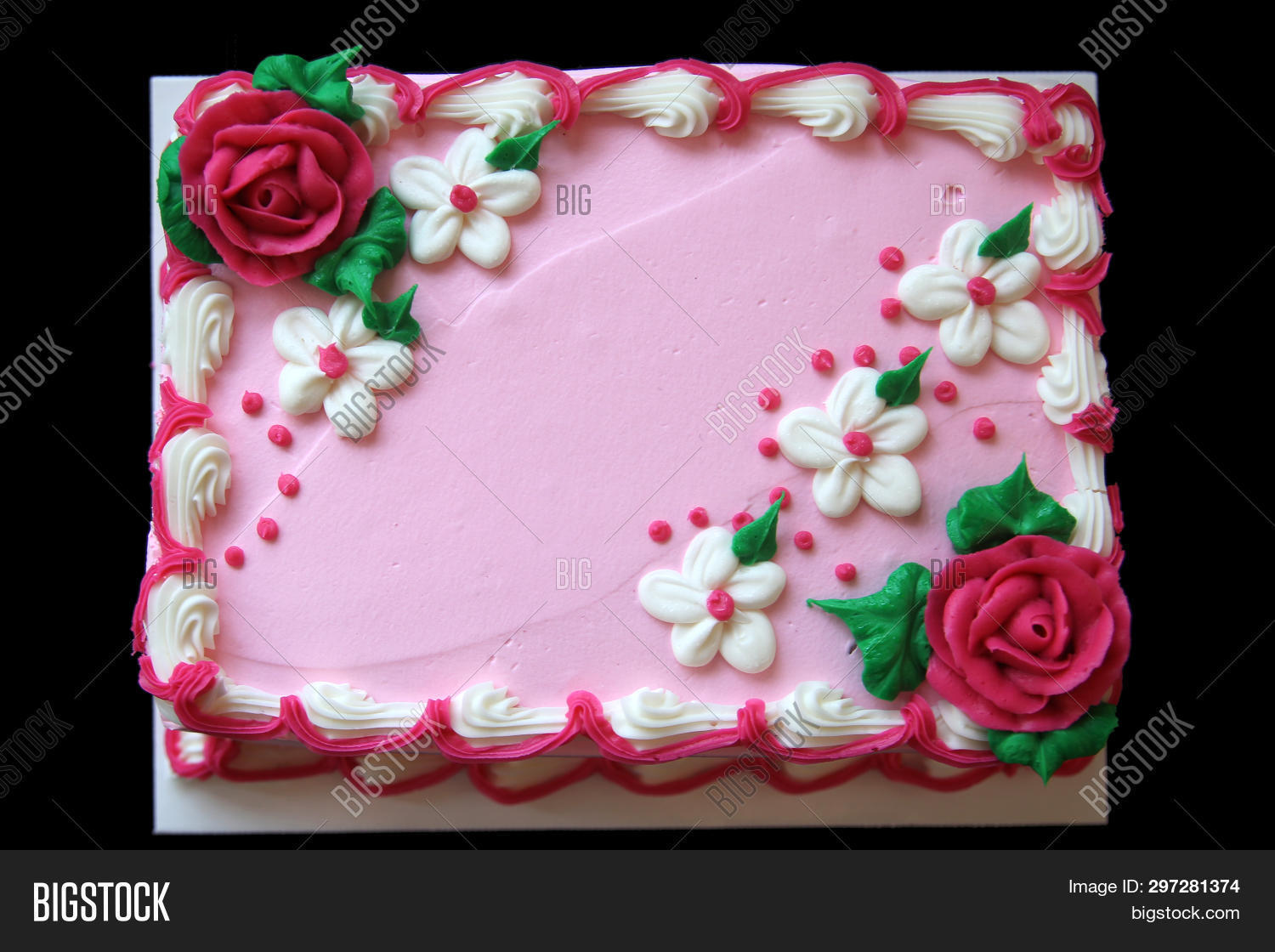 Enjoyable Birthday Cake Pink Image Photo Free Trial Bigstock Personalised Birthday Cards Paralily Jamesorg